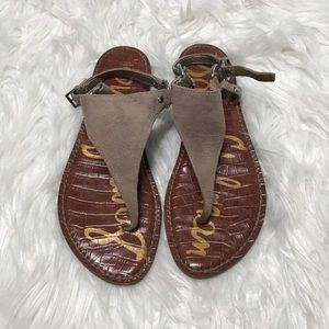 Sam Edelman Suede Thong Sandals